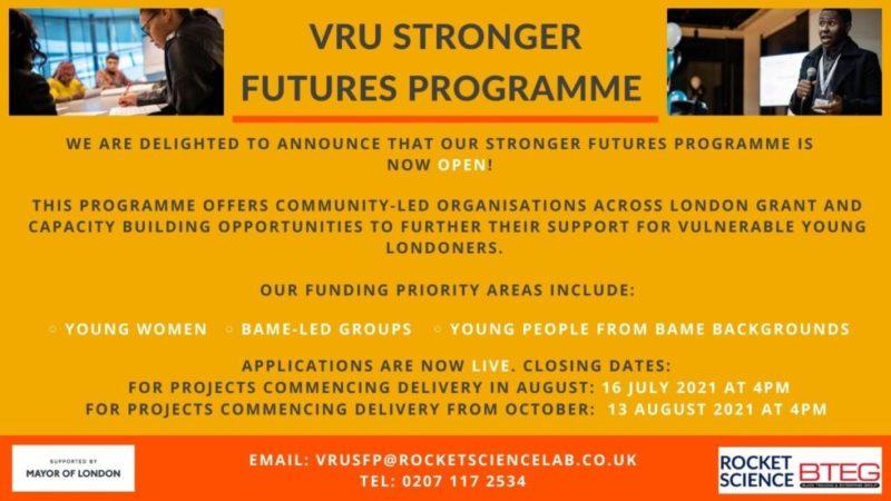 Stronger Furtures information poster